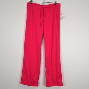 Pink Loose Fitting Track Pants